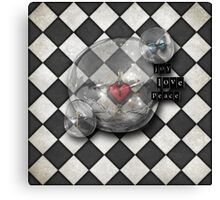 chequered reality Canvas Print