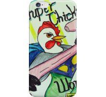 Super Chicken vs Worm iPhone Case/Skin