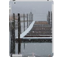 Snowy Day at the Nissequogue Boat Slips iPad Case/Skin