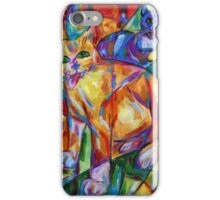 Cubist Cats At Dusk iPhone Case/Skin