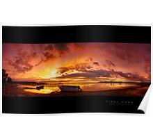 Firey Dawn - Lake Illawarra Poster