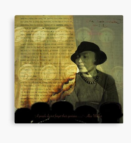 From The Fire: Zora Neale Hurston Canvas Print