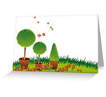 Garden Topiary Greeting Card