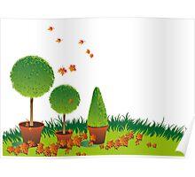 Garden Topiary Poster