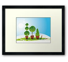Winter Topiary Framed Print