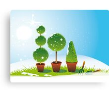 Winter Topiary Canvas Print