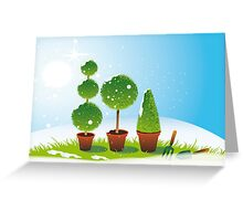 Winter Topiary Greeting Card