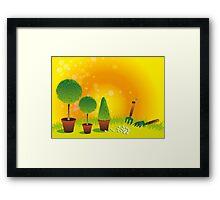 Summer Topiary Framed Print