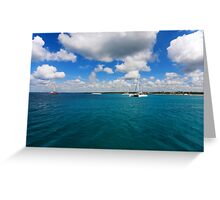 Catamarans in Caribbean sea Greeting Card