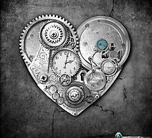 new steampunk heart by Melanie Moor