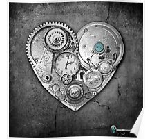 new steampunk heart Poster