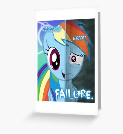 Two Sides - Rainbow Dash Greeting Card