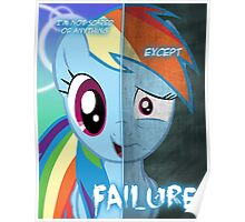 Two Sides - Rainbow Dash Poster