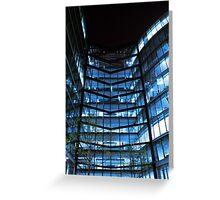 Modern Glass Ofice Building Greeting Card