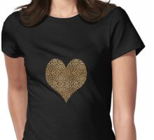 Cheetah Heart T-Shirt Womens Fitted T-Shirt