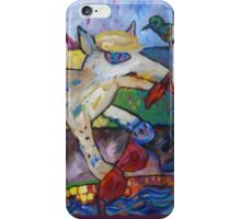 Shredder Cuts Loose By The Pool iPhone Case/Skin