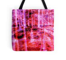 Colorful Forest Trees Pink Red Purple  Tote Bag