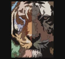 Tiger T-Shirt by simpsonvisuals
