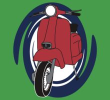 Red Lambretta by geekmorris