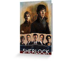 Sherlock Cast Portraits Greeting Card