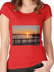 Sunset In North Carolina Women's Fitted Scoop T-Shirt