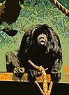 Cheeky Monkey Cut-Out, 70's Style by Ryan Davison Crisp