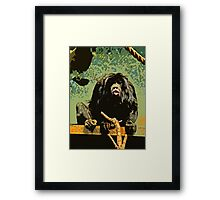 Cheeky Monkey Cut-Out, 70's Style Framed Print