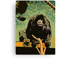 Cheeky Monkey Cut-Out, 70's Style Canvas Print