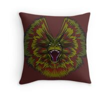 Jurassic Park Dilophosaurus Throw Pillow