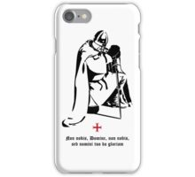 Knight Templar praying ☩ Chevalier templier en prière iPhone Case/Skin