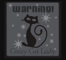 crazy cat lady black Kids Tee