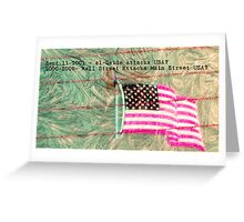 Frosting of USA's Economy Greeting Card