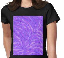 purple bitmap zebra Womens Fitted T-Shirt