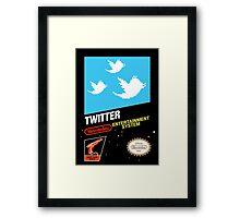 NES Twitter Framed Print