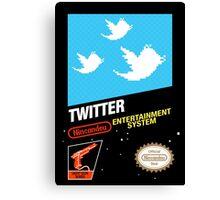 NES Twitter Canvas Print