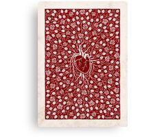 rose vine and human heart Canvas Print