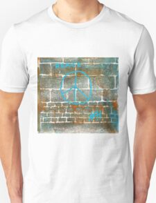 The Wall Series 5 Peace Sign - Lino Cut Plus Text T-Shirt