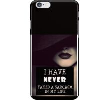 Faked A Sarcasm iPhone Case/Skin