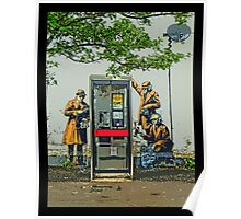 GCHQ listening post by Banksy Poster