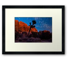 Glowing Rocks, Joshua Tree Framed Print
