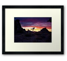 Clouds at Sunset, Joshua Tree Framed Print