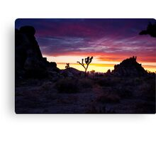 Clouds at Sunset, Joshua Tree Canvas Print
