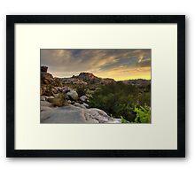 Sunset at Barker Dam Framed Print