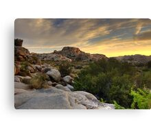 Sunset at Barker Dam Canvas Print