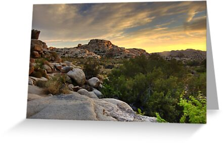 Sunset at Barker Dam by Justin Mair