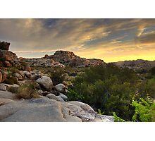 Sunset at Barker Dam Photographic Print