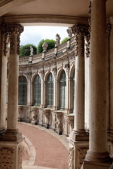 Arcade of baroque palace by leenvdb