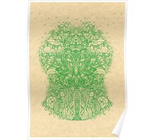 Fractal Forest Green Knight Poster