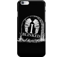 Doctor Who I Blinked Gravestone iPhone Case/Skin