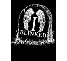 Doctor Who I Blinked Gravestone Photographic Print